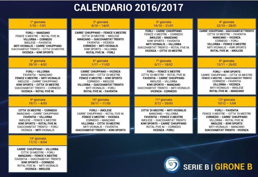 Campionato Serie B Gir B 16/17