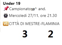 Stagione Under 19 2019-2020 10^and