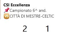 Stagione 2019-2020 Csi Eccellenza 6^ and