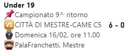 Stagione Under 19 2019-2020 9^ rit