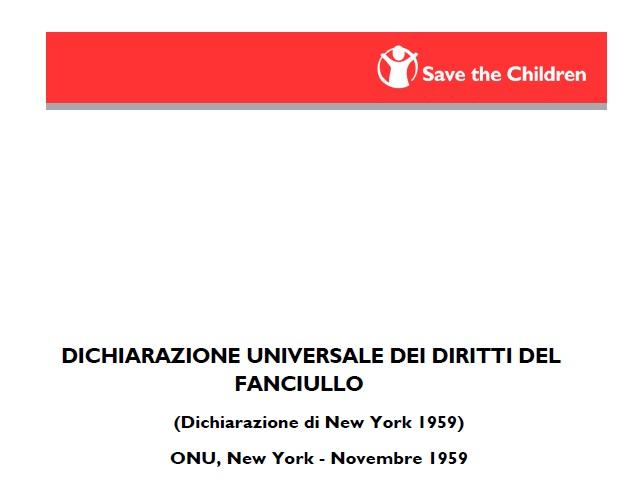 dichiarazione universale diritti del fanciullo