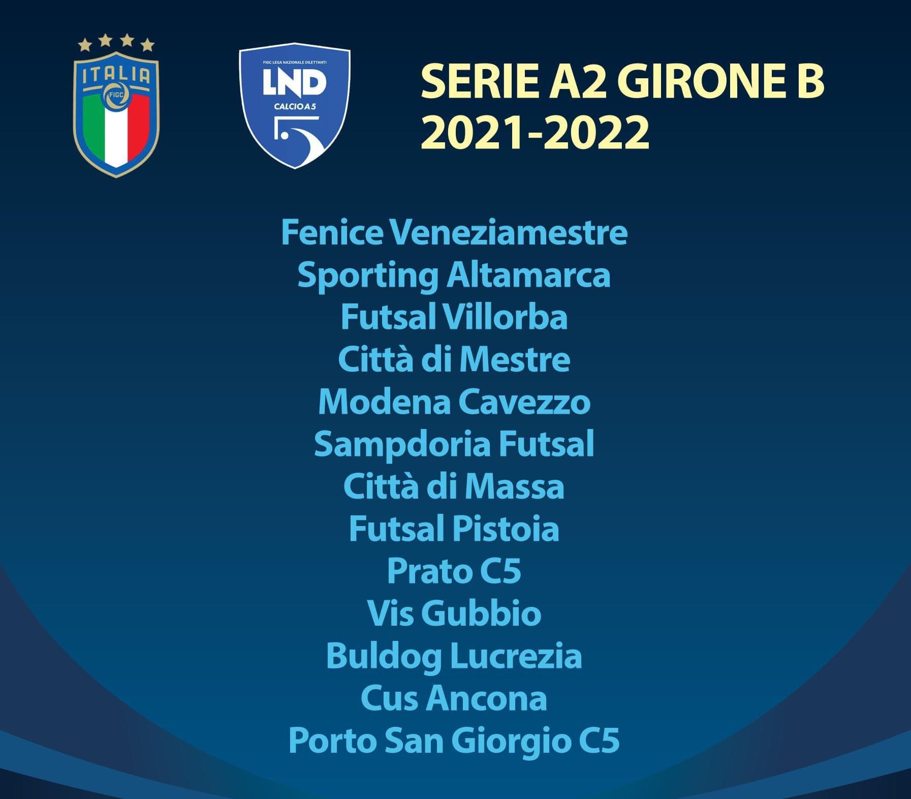 Serie A2 Girone B 2021/2022