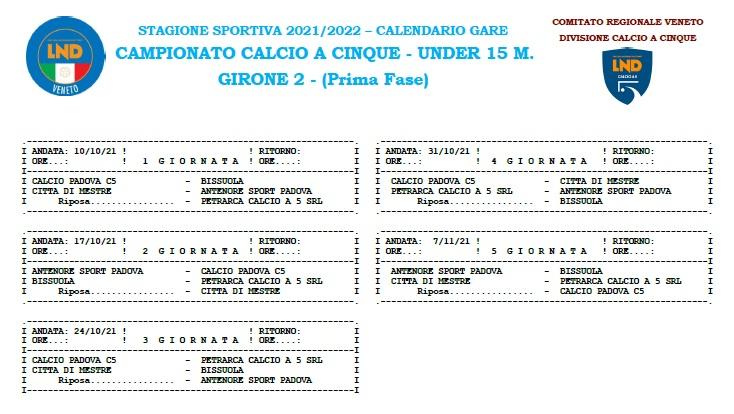 Ultima partita: Città di Mestre - Antenore: 0-6